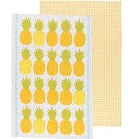 Now Designs Dishtowels Pineapples Set of 2
