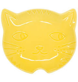 Now Designs Spoon Rest Calvin Cat Yellow