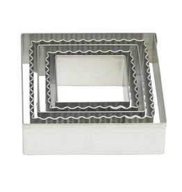 Harold Imports Mrs Anderson Crinkle Cookie Cutter, Square, Set of 5