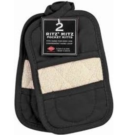 John Ritzenthaler Ritz Mitz Double-Sided Mitt, Black Set of 2 cir