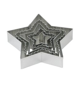 Harold Imports Mrs Anderson's Crinkle Cookie Cutter, Star, Set of 5