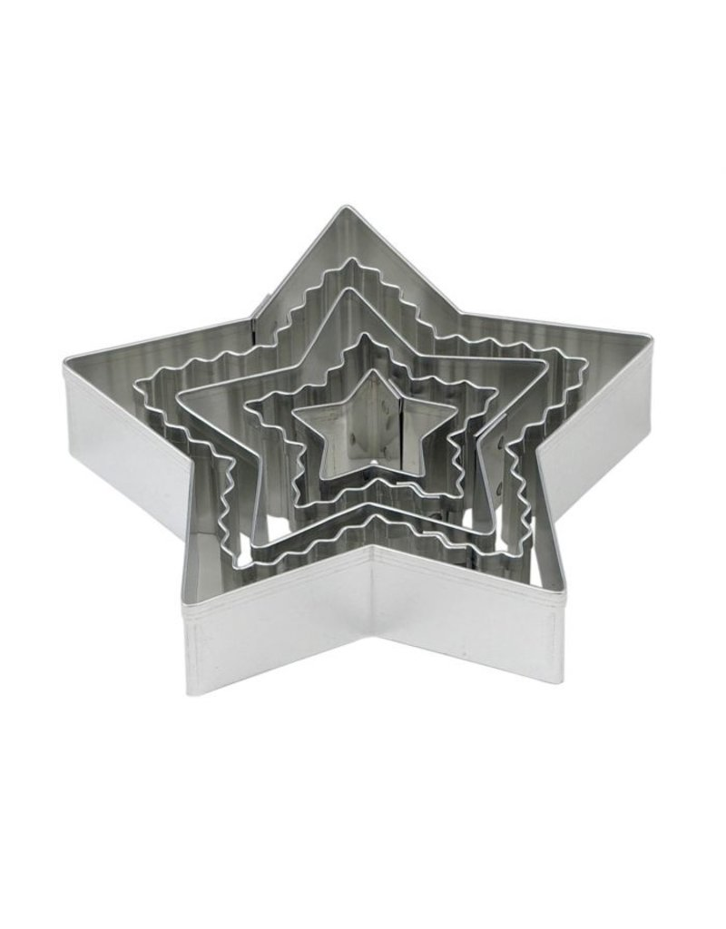 Harold Imports Mrs Anderson Crinkle Cookie Cutter, Star, Set of 5
