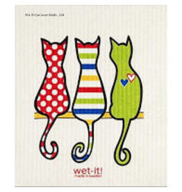 Wet-It Swedish Dish Cats Multi