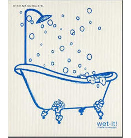 Wet-It Swedish Dish Blue Bathtub