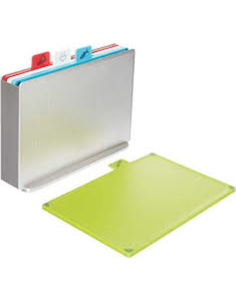 Joseph Joseph Index Cutting Board Set with Silver Storage Case