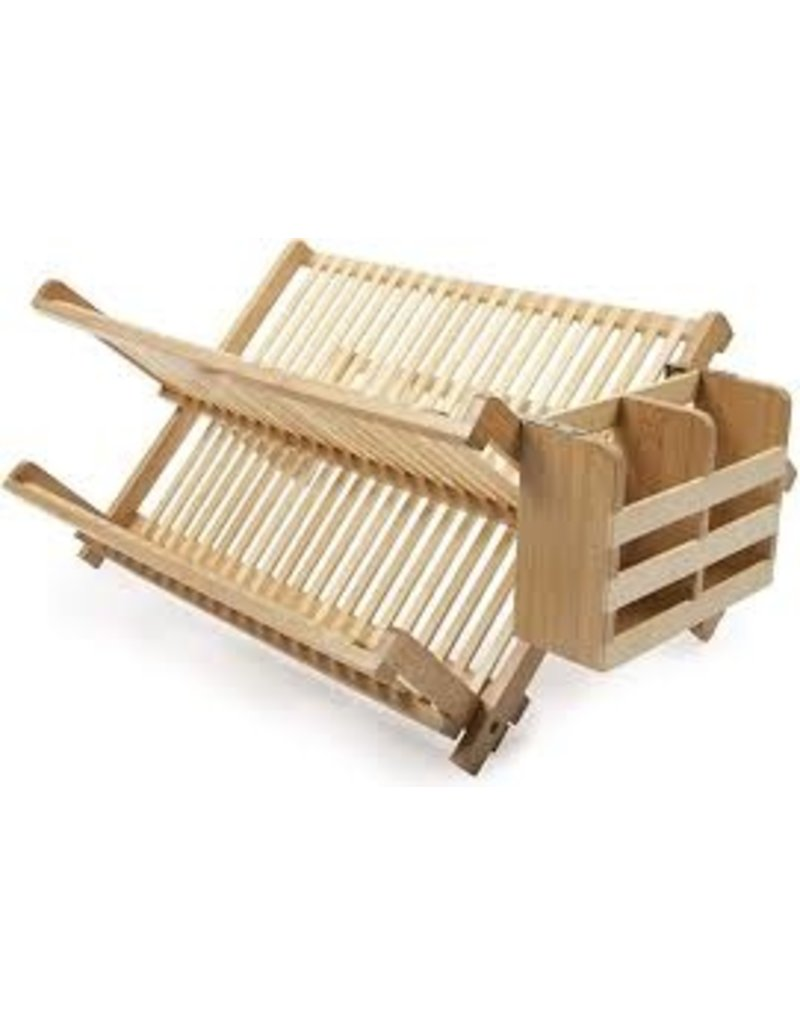 Core Home Bamboo Dish Rack with Utensil Holder disc