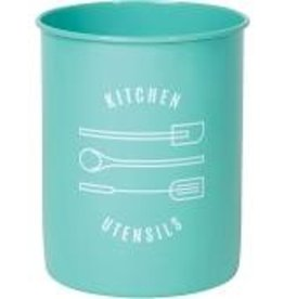 Now Designs Utensil Crock Turquoise Kitchen