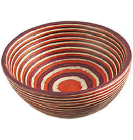 "Island Bamboo/Wilshire Red Pakkawood Round Pinch Bowl, 3.5"""