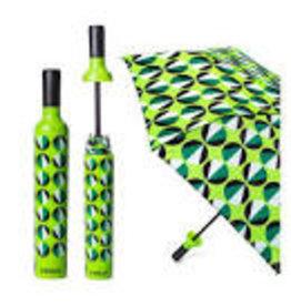 Vinrella Wine Bottle Umbrella - Circular Motion-green DISC