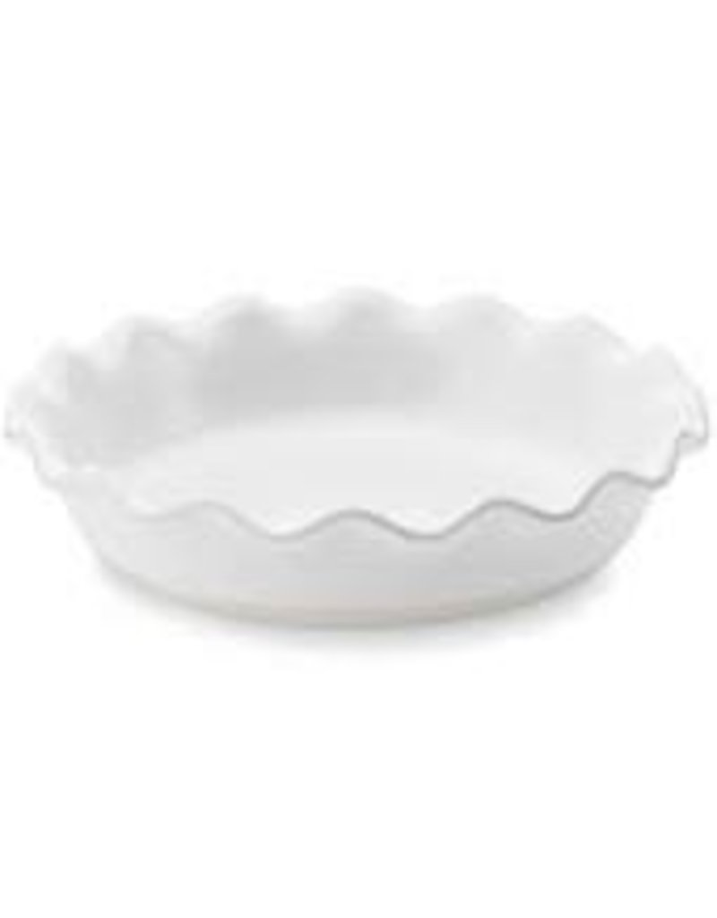 Emile Henry EH Pie Dish, White, 9'' dia, 2'' deep, 5 cup capacity cir