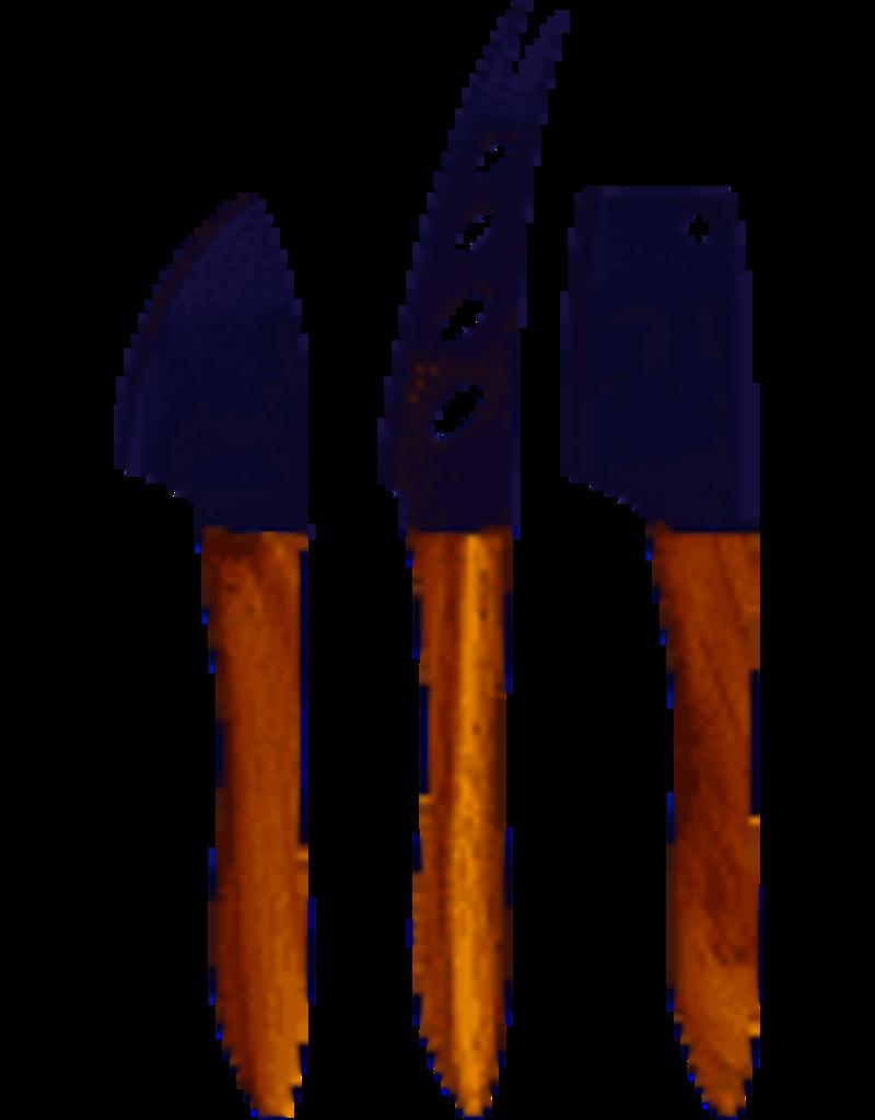 Swissmar 3 Pc Acacia Cheese Knife Set. DISC