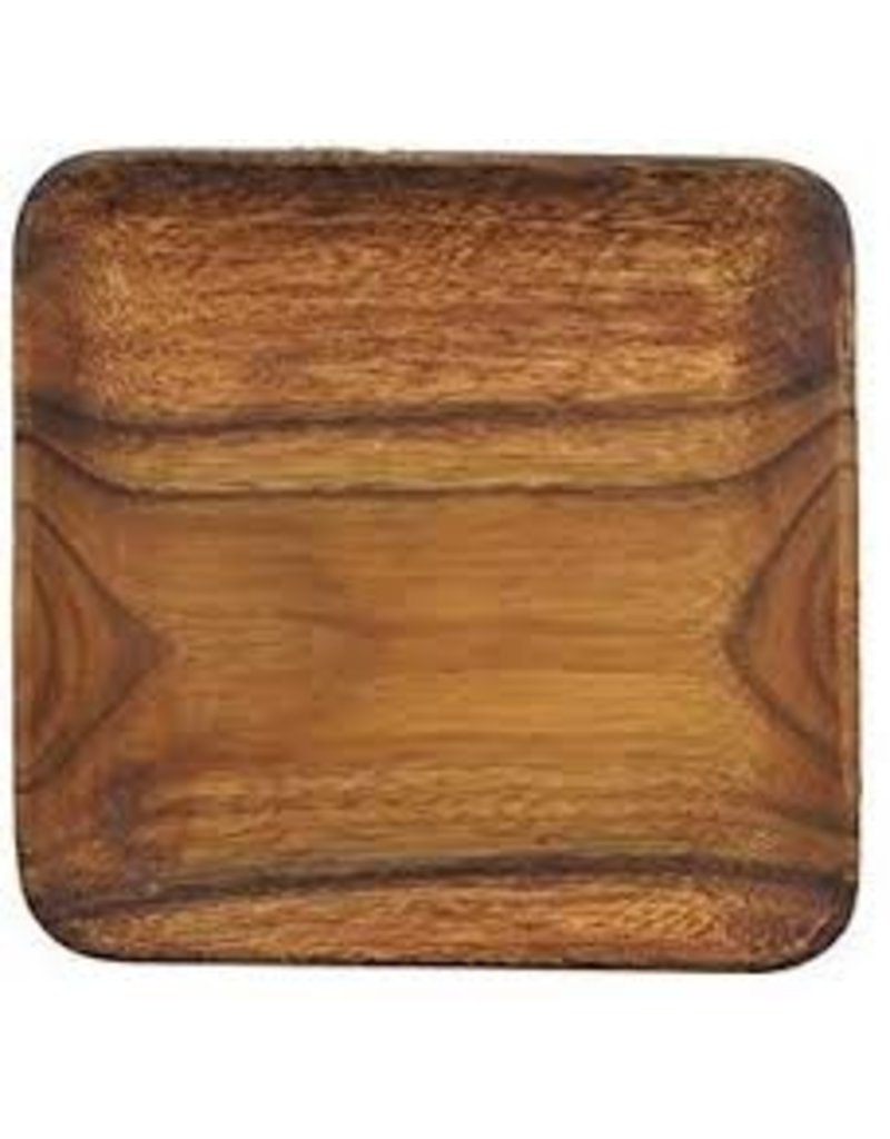 Pacific Merchants Acacia Wood Square Appetizer/Cheese Tray, 12x12 DISC
