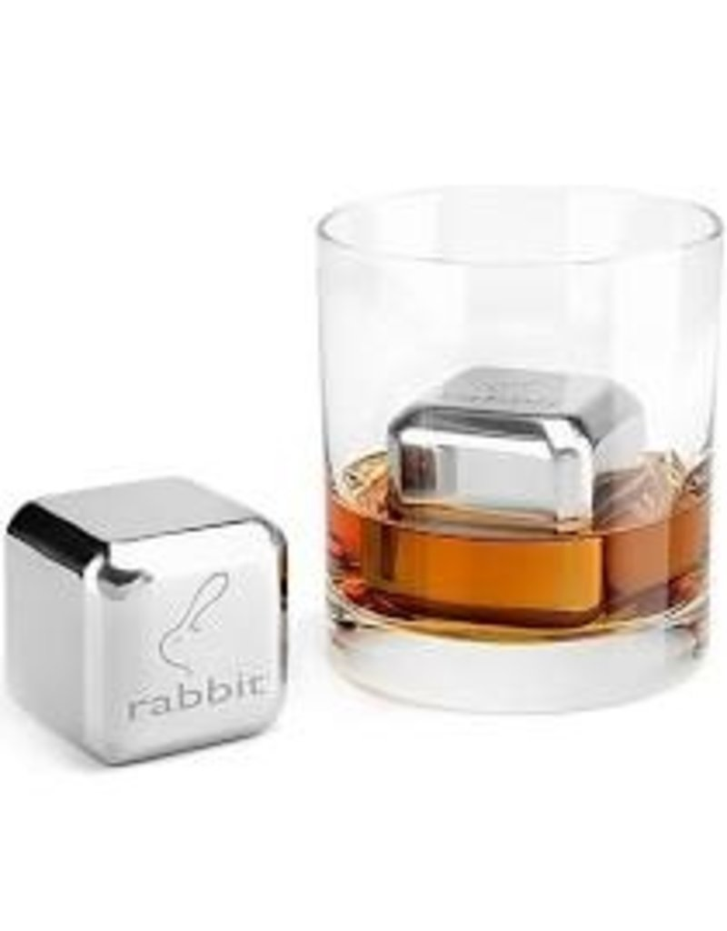 Rabbit Jumbo Chilling Ice Stones Rocks Set of 2, Chrome