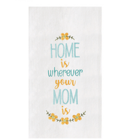 C and F Home Mothers Day Towel Home With Mom, floursack