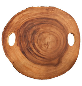 True Brands Rustic Farmhouse Wood Slice Rings Cheese Board 14''