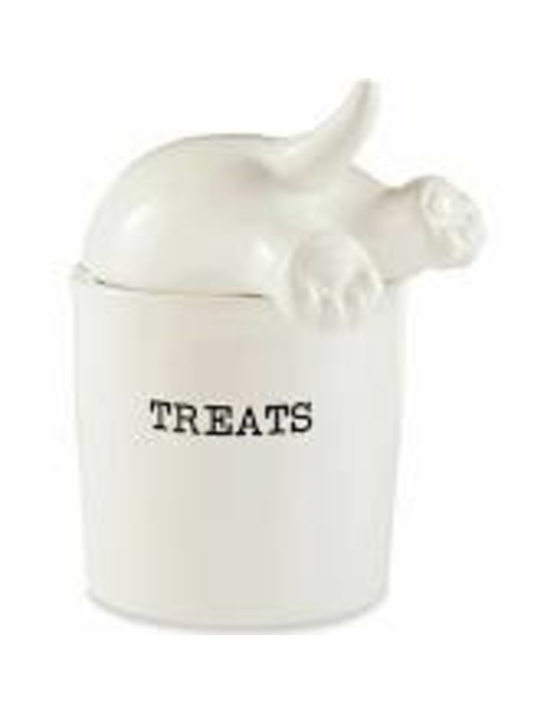 Mudpie Dog Tail Treat Canister DISC