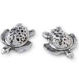Mudpie Sea Turtle Salt & Pepper Set, Silver