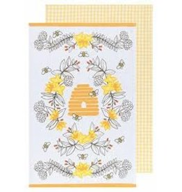 Now Designs Dish towel Bees Set of 2
