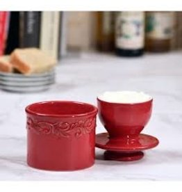 Butter Bell Butter Crock, Antique Red