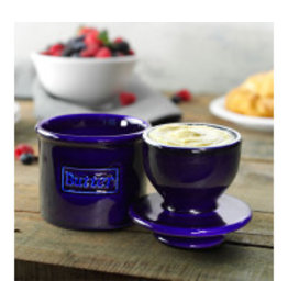 Butter Bell Butter Crock, Cafe Retro Cobalt Blue
