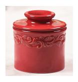 Butter Bell Butter Crock, Antique Red