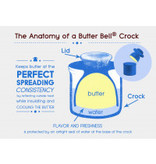 Butter Bell Butter Crock, Antique White Linen
