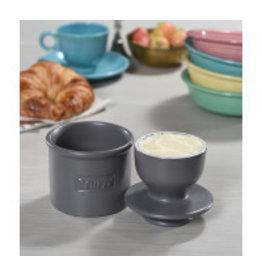 Butter Bell Butter Crock, Matte Steel Gray