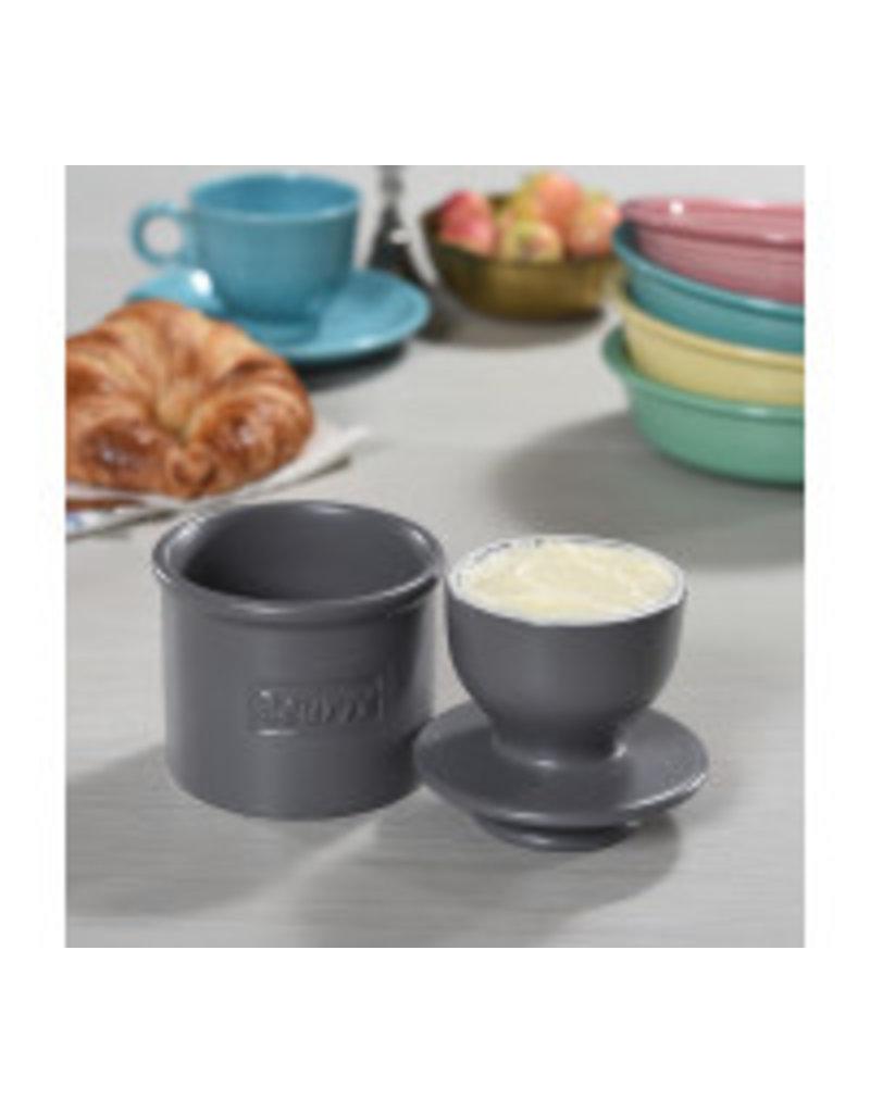 Butter Bell Butter Crock, Cafe Matte Steel Gray