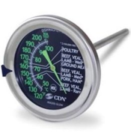 CDN ProAccurate GLOW Dial Meat & Poultry Cooking Thermometer