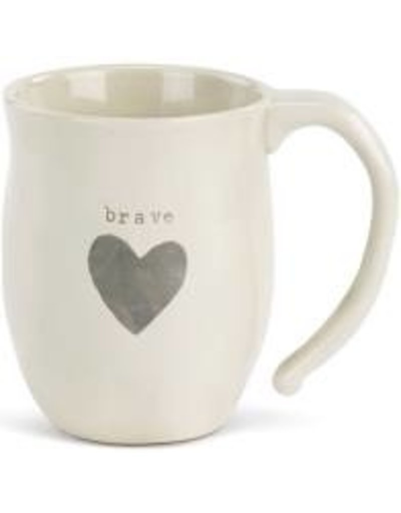 Demdaco Heart Mug - Brave 16oz