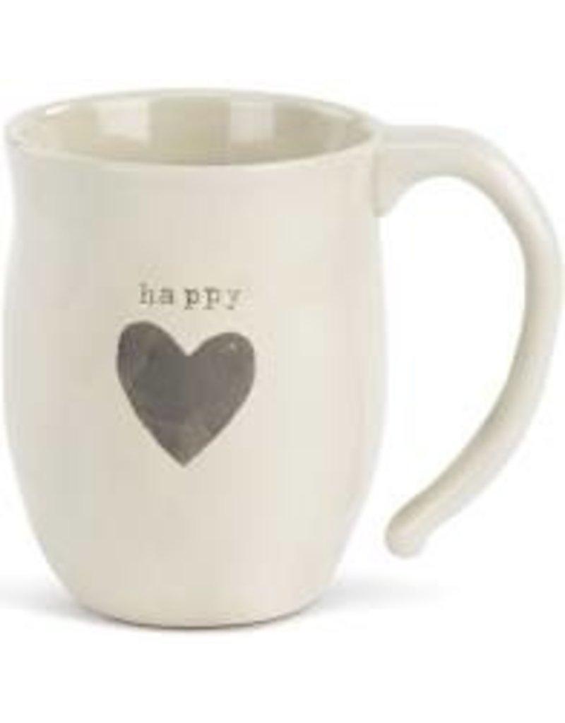 Demdaco Heart Mug - Happy  16oz