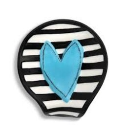Demdaco Heartful Home Spoon Rest, Blue Heart