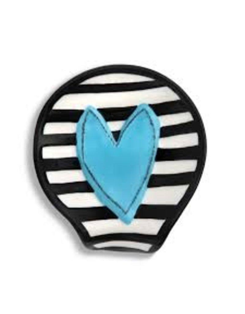 Demdaco Heartful Home Spoon Rest, Blue Heart