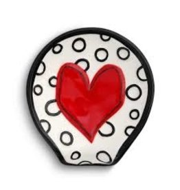 Demdaco Heartful Home Spoon Rest, Red Heart
