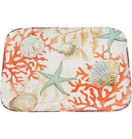 GalleyWare Melamine Rect Platter, Coral Reef  15.5'' disc