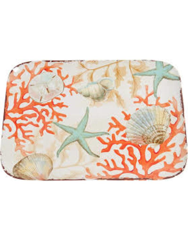 GalleyWare Melamine Rect Platter, Coral Reef  15.5''