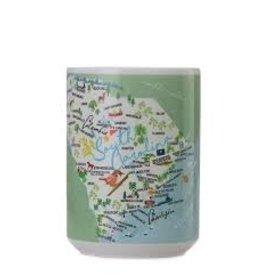 GalleyWare Mug, SC Map15oz