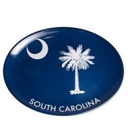 GalleyWare Melamine Oval Platter, Blue Palmetto 16''