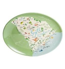 GalleyWare Melamine Oval Platter, SC Map 16''