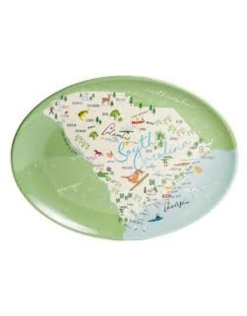 GalleyWare Melamine Oval Platter, SC Map 16''