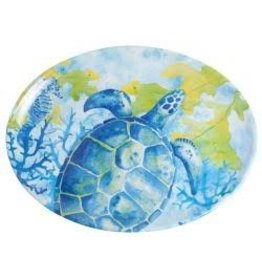 GalleyWare Melamine Oval Platter, Sea Turtle  16''