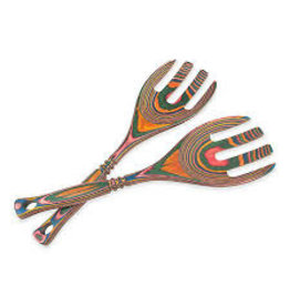 """Island Bamboo/Wilshire Rainbow Pakka 12"""" Salad Claws"""