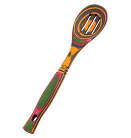 Island Bamboo/Wilshire Rainbow Pakkawood Slotted Spoon