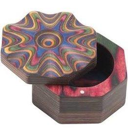 Island Bamboo/Wilshire Rainbow Pakka Salt Cellar DISC