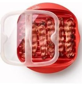 Lekue Microwave Bacon Cooker, Red