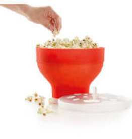 Lekue Collapsible Microwave Popcorn Maker, red