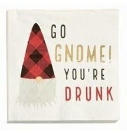 Mudpie Holiday Gnome Napkins-You're Drunk