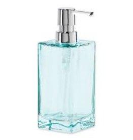 Oggi Tall Glass Soap/Lotion Dispenser, Aqua (7'' H, 13OZ)