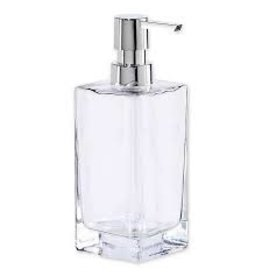 Oggi Tall Glass Soap/Lotion Dispenser Pump, Clear (7'' H, 13OZ)