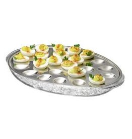 Prodyne Acrylic and Stainless Iced Deviled Eggs